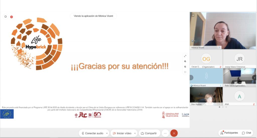 Captura pantalla: despedida de la presentación de life hypobrick